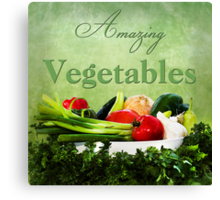 Amazing Vegetables  Canvas Print