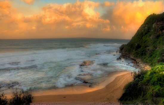 Turimetta Sunset - Turimetta Beach, Sydney Australia - The HDR Experience by Philip Johnson