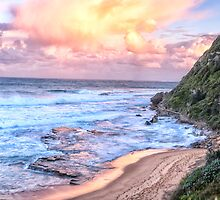 Turimetta Sunset #3 - Turimetta Beach, Sydney Australia - The HDR Experience by Philip Johnson