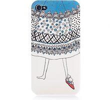 Original Design Waving Skirt Iphone 4/4S Case by tracylopez