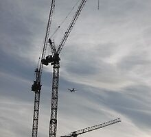 Aircraft/Cranes -(310712)- digital photo by paulramnora