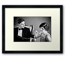 Diamonds make the world go round Framed Print