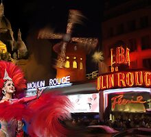 Moulin Rouge, Paris, Montmartre by mike2048