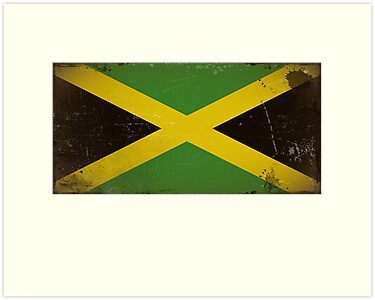 Vintage flag of Jamaica by TilenHrovatic