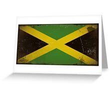 Vintage flag of Jamaica Greeting Card