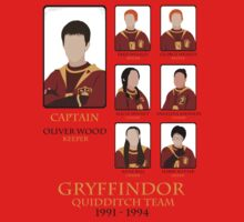Gryffindor Quidditch Team 1991-1994 by iamthevale
