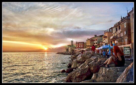 Sunset - Piran by refar