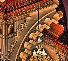 Morocco. Casablanca. Hassan II Mosque. Interior. Chandalier. by vadim19