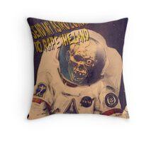 Astro Zombie Throw Pillow