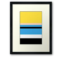 Minimalist Powerpuff Girls Bubbles [iPhone / iPad / iPod Case] Framed Print