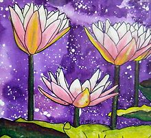 Pale Pink Waterlilies  by Alexandra Felgate
