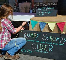 Setting Up The Scrumpy Stall ~ Lyme Regis by Susie Peek