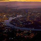 Downtown Dawn (aerial) - Melbourne, Australia by clickedbynic