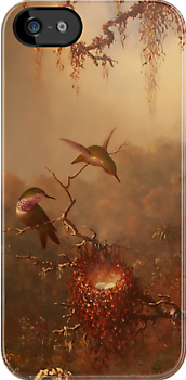 Hummingbirds in the Mist by Pamela Phelps