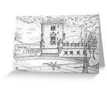 iPad case, Ipad deflector. Torre de Belém Greeting Card