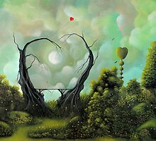 (A Natural Kind of Love) By Fantasy Fairytale Landscape Artist Philippe Fernandez by Philippe Fernandez