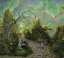 (Come One Come All) By Fantasy Fairytale Landscape Artist Philippe Fernandez by Philippe Fernandez