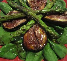 Fig & Asparagus Salad. by v-something