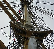 Crow's Nest and Rigging - Tall Ship Eagle by MaryinMaine