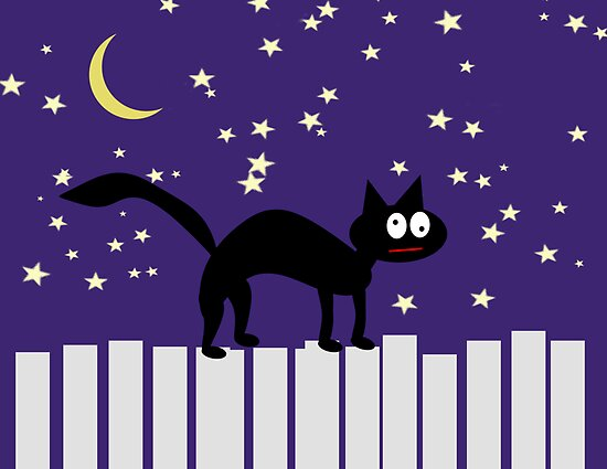 Black Halloween Cat  by Scott Ruhs