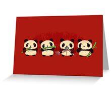 Robot Panda Greeting Card