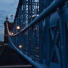 Dusk on the Roebling Bridge by Jeanne Sheridan