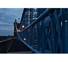 Dusk on the Roebling Bridge Photographic Print