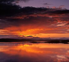 Sunset over the Isles from Craobh Haven by Simon Bowen