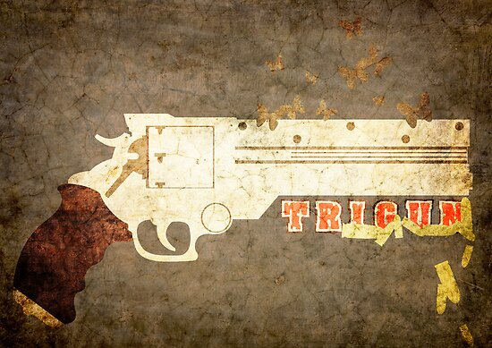 Trigun - Bullets & Butterflies Distressed by Adam Angold