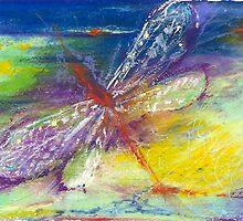 Dragonfly in Flight by joanmarie444