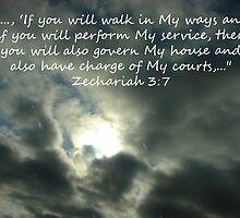 """Zechariah 3:7""  by Carter L. Shepard by echoesofheaven"
