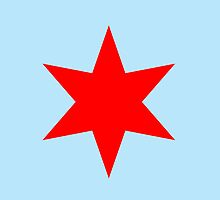 Chicago Flag Star iPhone Case (Light Blue) by Chicago Tee