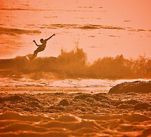 Golden California Surf  by Valerie Rosen