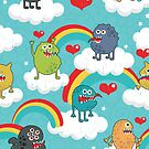 Monsters rainbow. by Ekaterina Panova
