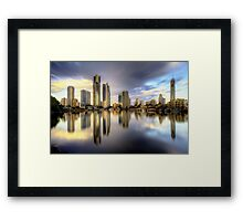 All That Shimmers Is Gold Framed Print