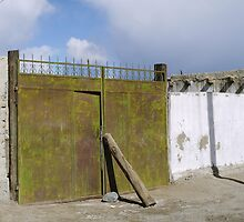 A firmly closed gate in Karakul by Marjolein Katsma