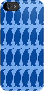 Penguin Blue Print by rapplatt