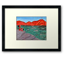 The Silhouettes Reflecting Framed Print