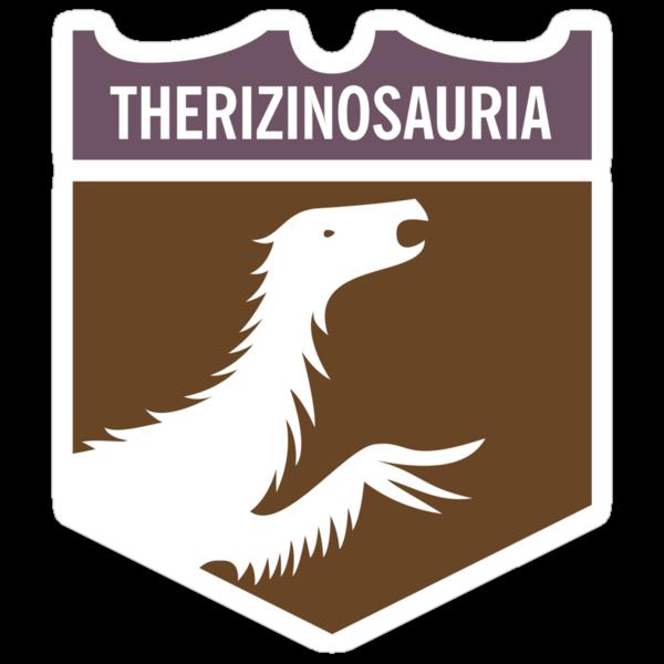 Dinosaur Family Crest: Therizinosauria by David Orr