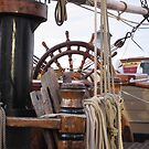 HMS Bounty - At the Helm by bountified