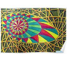360 - RAINBOW DESIGN - DAVE EDWARDS - COLOURED PENCILS - 2012 Poster