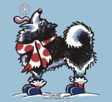 Alaskan Malamute Catch a Snowflake by offleashart