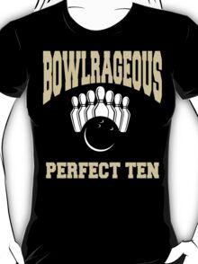 Funny Perfect Ten Women's Bowling T-Shirt T-Shirt