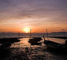 Ko Lanta Fishing Boats by Kerry Dunstone
