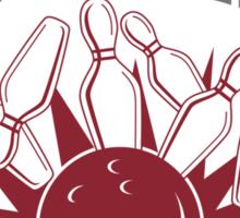 El Duderino Bowling T-Shirt Sticker