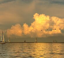 Sailing on Galveston Bay by Paul Wolf