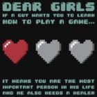 Dear girls if a guy wants you to learn how to play a game by bomdesignz