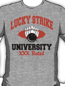 Lucky Strike University Bowling T-Shirt XXX Rated T-Shirt