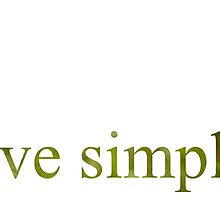 live simply by cmcdonald