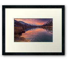 Ahuriri Valley sunset Framed Print